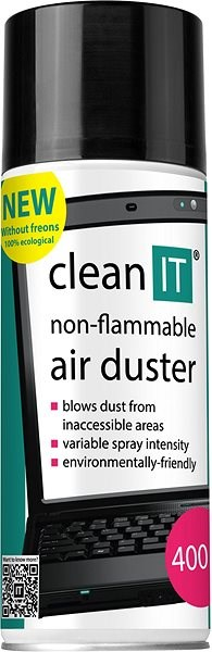 CLEAN IT nehořlavý stlačený plyn 400g - Čisticí prostředek