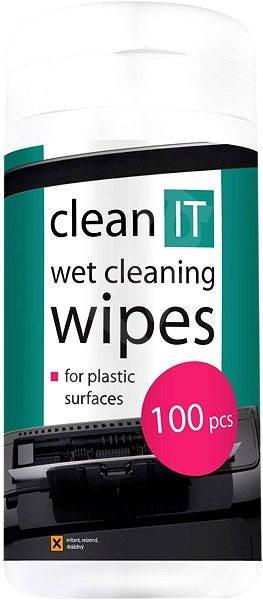 CLEAN IT Čistící ubrousky mokré na plasty 100ks - Čisticí prostředek