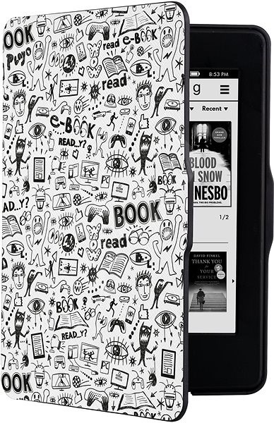 CONNECT IT CEB-1031-WH pro Amazon Kindle Paperwhite 1/2/3, Doodle White - Pouzdro na čtečku knih