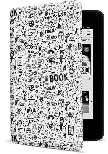 CONNECT IT CEB-1043-WH pro Amazon NEW Kindle Paperwhite 4 (2018), Doodle white  - Pouzdro na čtečku knih