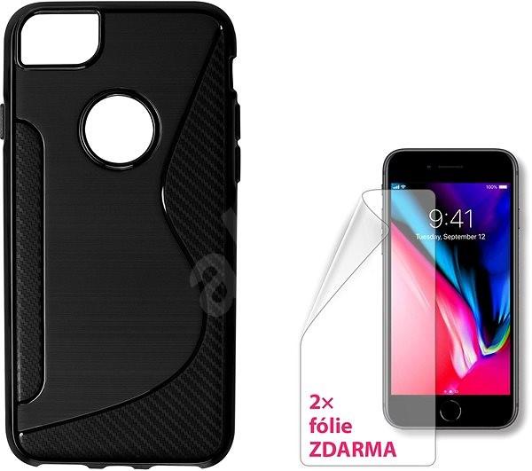 finest selection 270e4 8c6de CONNECT IT S-Cover iPhone 8 černé - Ochranný kryt | Alza.cz