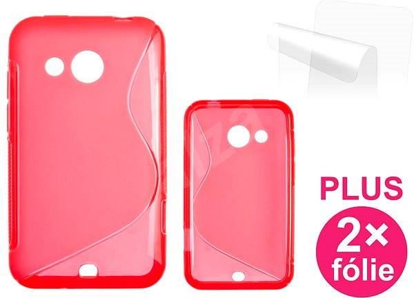 CONNECT IT S-Cover HTC DESIRE 200 červené - Ochranný kryt
