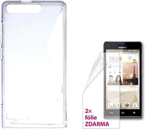 CONNECT IT S-Cover HUAWEI G6 čiré - Pouzdro na mobil