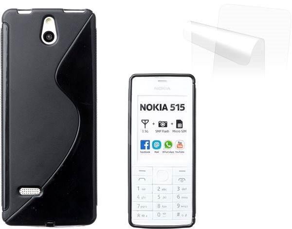 CONNECT IT S-Cover Nokia 515 černé - Pouzdro na mobilní telefon