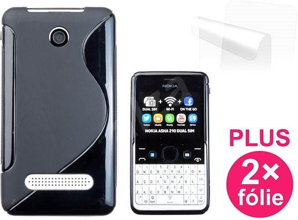 CONNECT IT S-Cover Nokia Asha 210 černé - Pouzdro na mobilní telefon