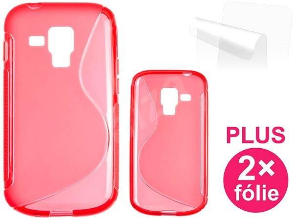 CONNECT IT S-Cover Samsung Galaxy S Duos (S7562) červené - Pouzdro na mobilní telefon