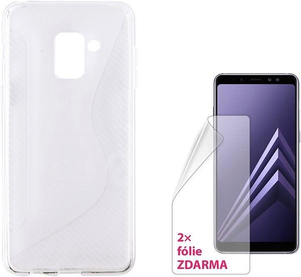 CONNECT IT S-COVER pro Samsung Galaxy A8 (2018, A530F) čiré - Pouzdro na mobil