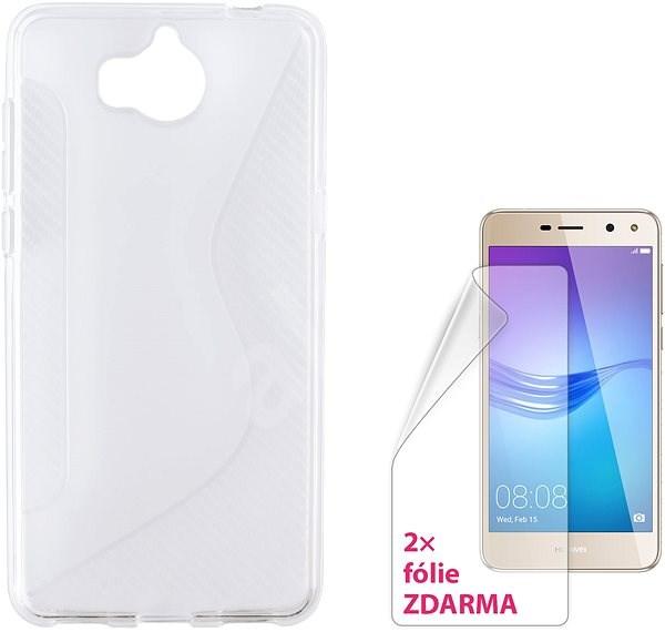 CONNECT IT S-COVER pro Huawei Y6 (2017) čiré - Pouzdro na mobilní telefon