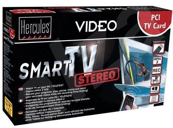 HERCULES TV Smart, TV tuner, PCI, teletext, stereo, dálkové ovládání -