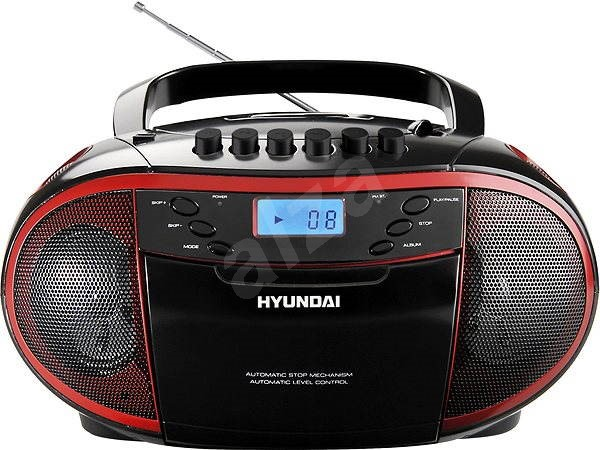 Hyundai TRC 851 AU3R černo-červená - Radiomagnetofon