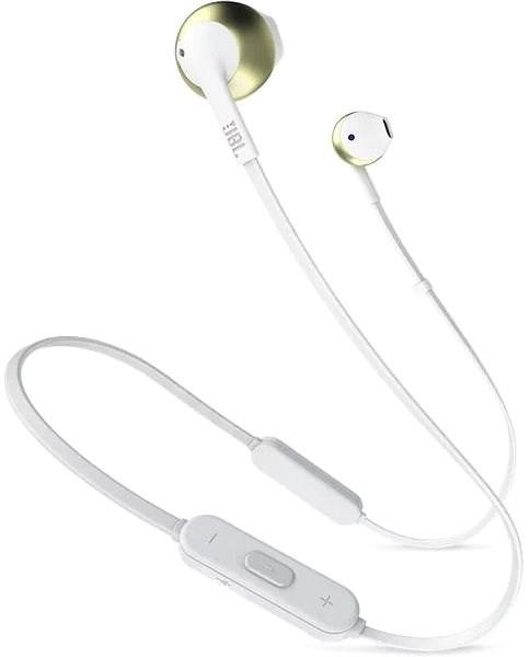 JBL T205 BT zlatá - Bezdrátová sluchátka