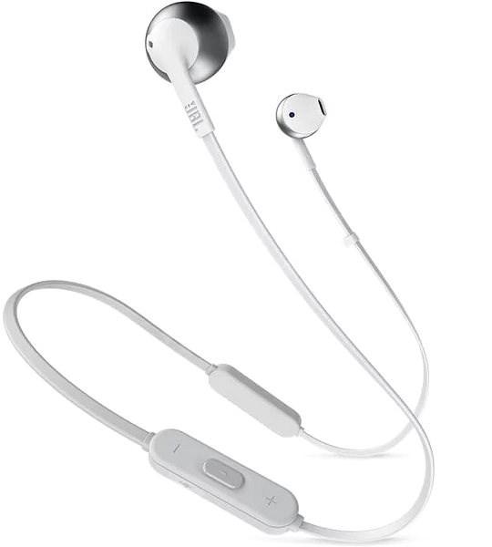 JBL T205 BT stříbrná - Bezdrátová sluchátka