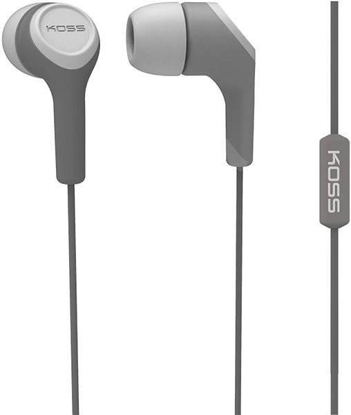 Koss KEB/15i šedá (doživotní záruka) - Sluchátka s mikrofonem