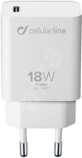 Cellularline s USB-C konektorem Power Delivery (PD) 18 W bílý - Nabíječka