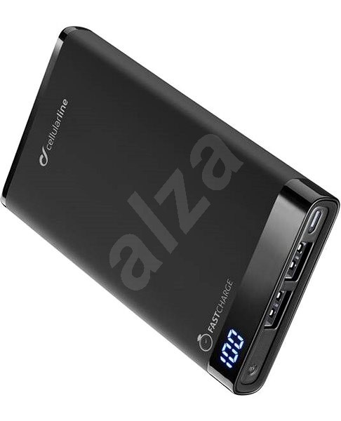 CellularLine FREEPOWER MANTA 12000 mAh, černá - Powerbanka