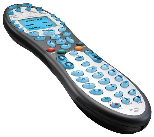 Logitech Harmony Remote 655, infračervené multifunkční dálkové ovládání, konfigurovatelné přes inter - Ovladač