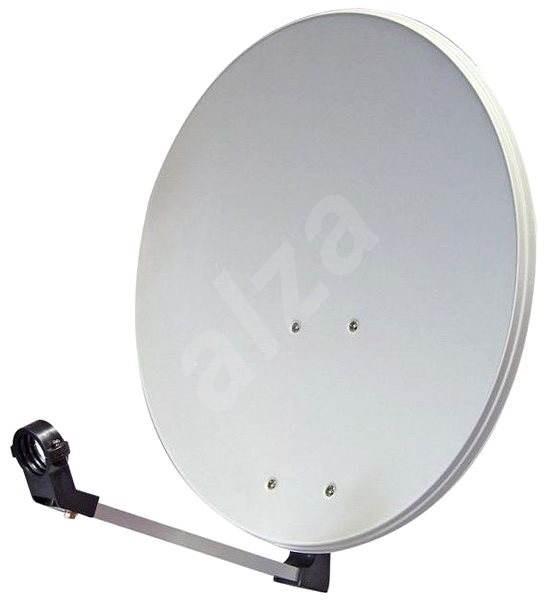 TeleSystem satelitní železná parabola 74x84cm, karton - Parabola