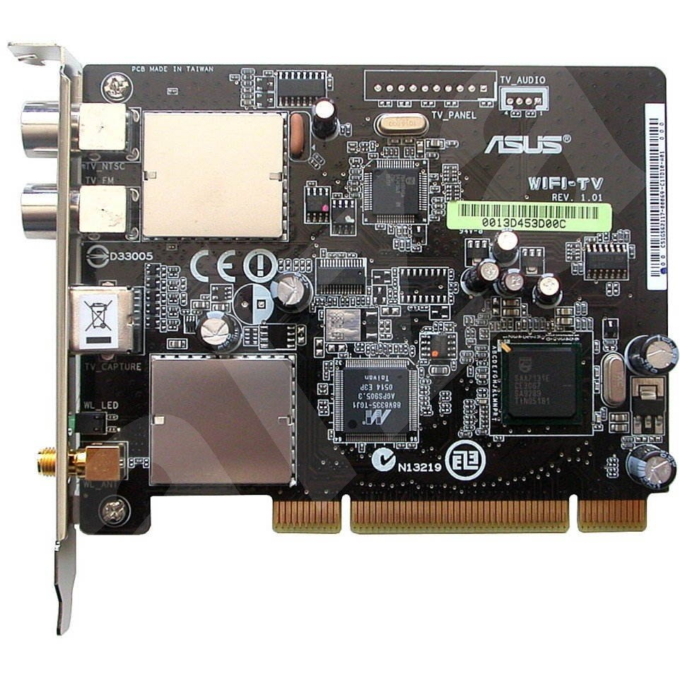 ASUS WiFi TV, PCI, DVB-T přijímač (Digital Terrestrial) + TV + FM Radio + WiFi (802.11a/b/g), DO, IR -