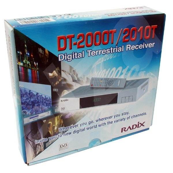 RADIX DT-2000T, externí DVB-T přijímač (Digital Terrestrial) pro TV (2xSCART+AV) + radio, DO - DVB-T přijímač