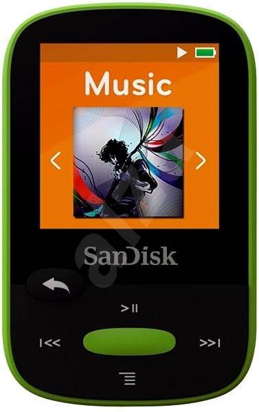 SanDisk Sansa Clip Sports 8GB limetka - FLAC přehrávač