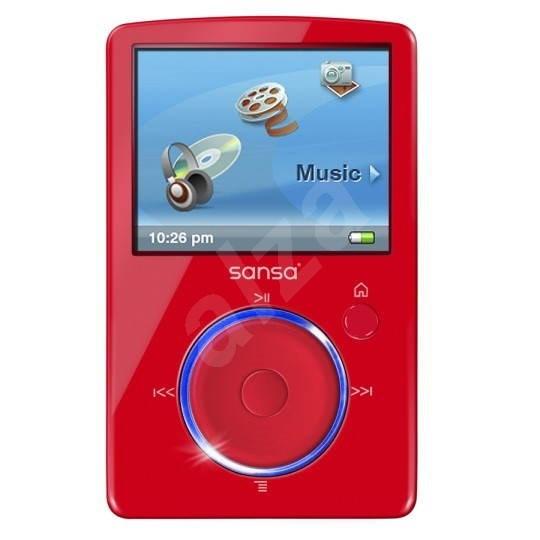 SanDisk Sansa Fuze 4GB červený - MP4 přehrávač