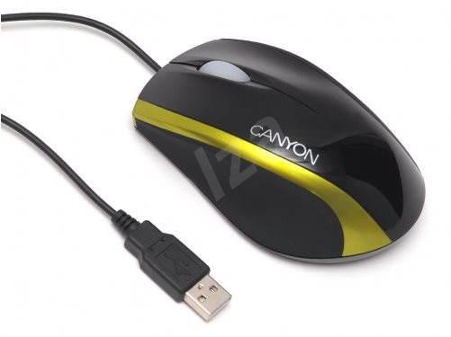 Canyon CNR-MSO01 černo-zlatá - Myš