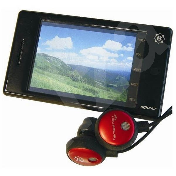 "Emgeton M7Cult Plus černý (black) 4GB + miniSD slot, MP3/ WMA/ FLAC/ AVI přehr., dot. 2.4"" LCD, FM,  - MP4 přehrávač"