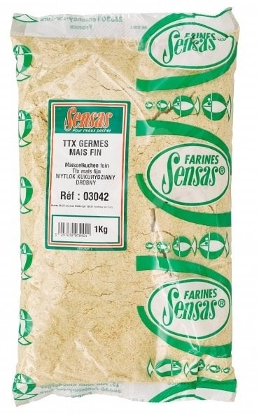 Sensas TTX Mais Fin 1kg - Vnadící směs