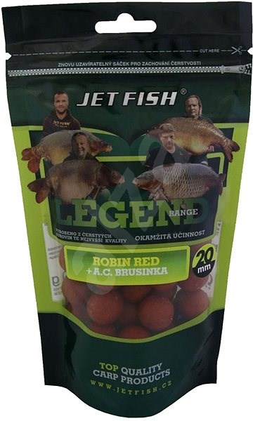 Jet Fish Boilie Legend Robin Red + Brusinka 20mm 250g - Boilies