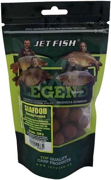 Jet Fish Boilie Legend Seafood + Švestka/Česnek 20mm 250g - Boilies