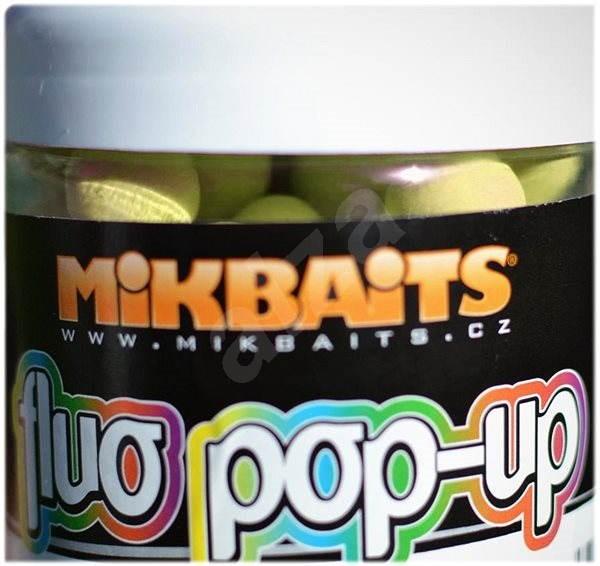 Mikbaits - Plovoucí fluo Pop-Up Máslová hruška 18mm 250ml - Pop-up boilies
