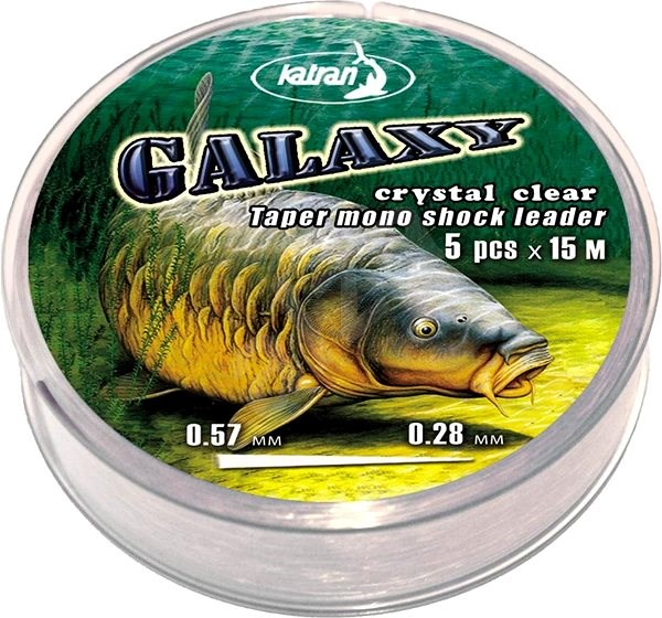 Katran Taper Mono Shock Leader Galaxy 0,26-0,57mm 5x15m Crystal Clear  - Vlasec
