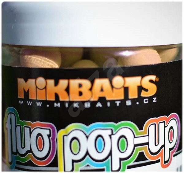 Mikbaits Plovoucí fluo boilie Broskev Black pepper 18mm 250ml - Pop-up boilies