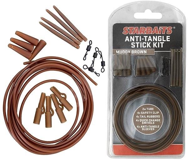 Starbaits Anti Tangle Stick Kit Hnědá - Montáž