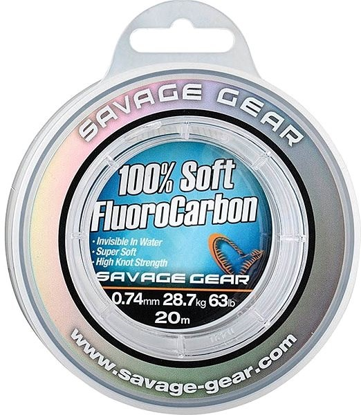 Savage Gear - Soft Fluoro Carbon 0,22mm 3,5kg 7,6lb 50m - Vlasec