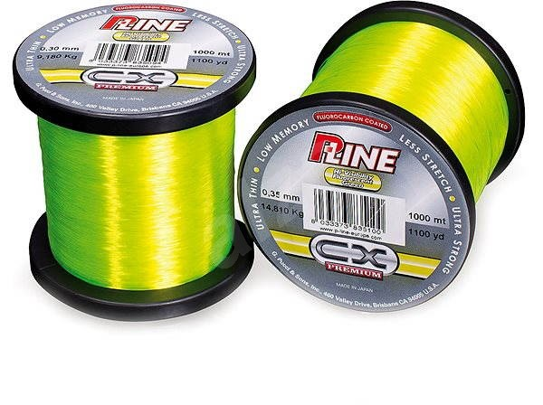 P-Line C ×   Premium 0,35mm 14,81kg 1000m Hi-Vis Fluorozelený - Vlasec