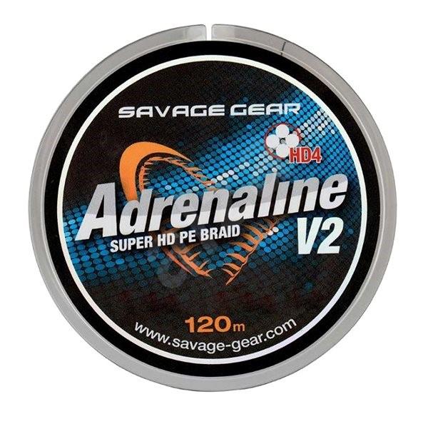 Savage Gear Šňůra HD4 Adrenaline V2 0,33mm 60lbs 27kg 120m Šedá - Šňůra