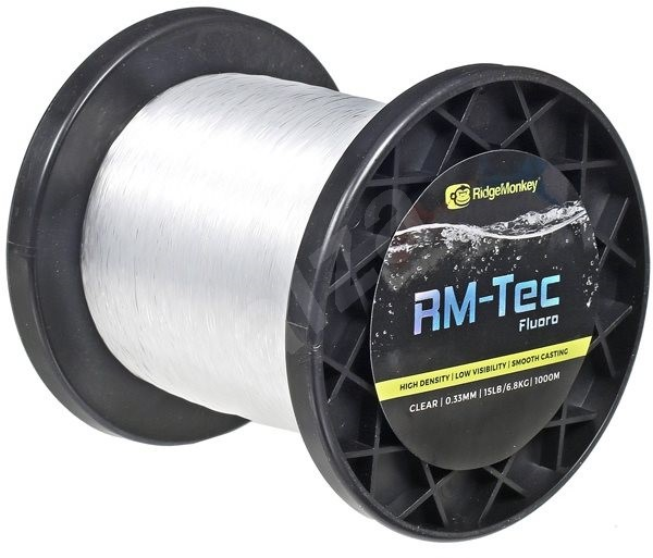 RidgeMonkey RM-Tec Fluoro 0,33mm 15lb 1000m Čirý - Vlasec