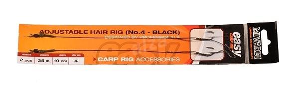 Mivardi Adjustable hair rig EASY Velikost 4 Černý - Návazec