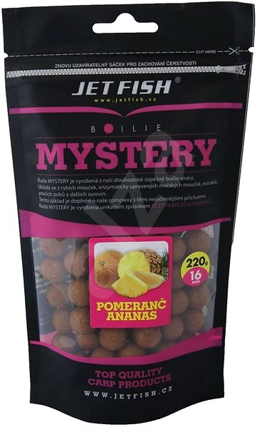 Jet Fish Boilie Mystery Pomeranč/Ananas 16mm 220g - Boilies