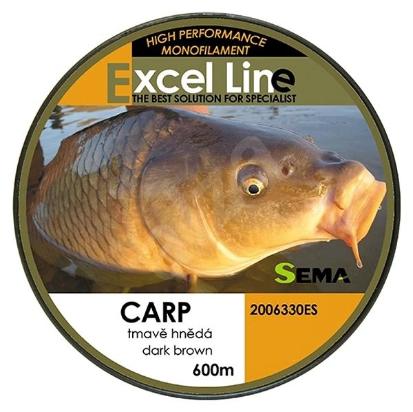 Sema Vlasec Carp Dark Brown 0,28mm 9,85kg 600m - Vlasec