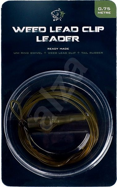 Nash Lead Clip Leader - Uni Ring Swivel, Weed Leadclip & Tail Rubber 0,75m - Montáž