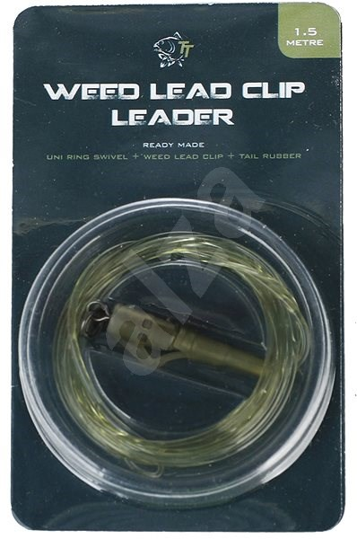 Nash Lead Clip Leader - Uni Ring Swivel, Weed Leadclip & Tail Rubber 1,5m - Montáž