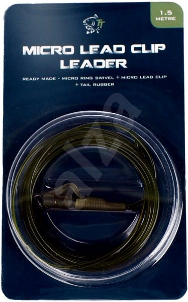 Nash Lead Clip Leader - Micro Ring Swivel, Micro Leadclip & Tail Rubber 1,5m - Montáž
