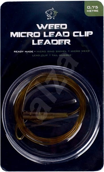 Nash Lead Clip Leader - Micro Ring Swivel, Micro Weed Leadclip & Tail Rubber 0,75m - Montáž