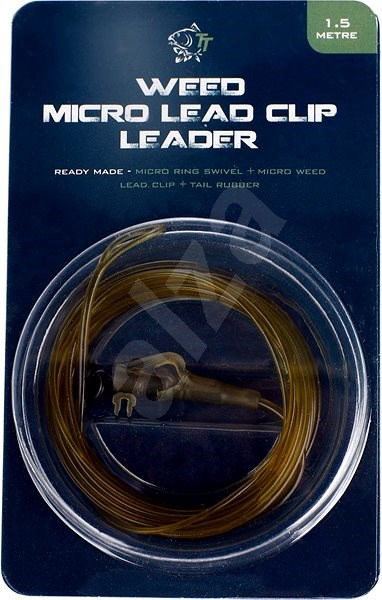 Nash Lead Clip Leader - Micro Ring Swivel, Micro Weed Leadclip & Tail Rubber 1,5m - Montáž