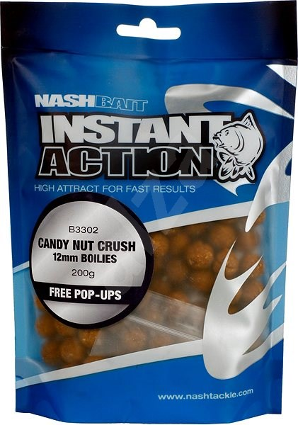 Nash Instant Action Candy Nut Crush 12mm 200g - Boilies