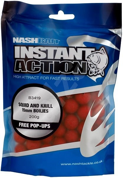 Nash Instant Action Squid & Krill 15mm 200g - Boilies