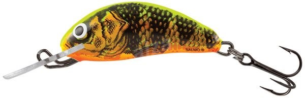 Salmo Hornet Floating 3,5cm 2,2g Gold Fluo Perch - Wobler
