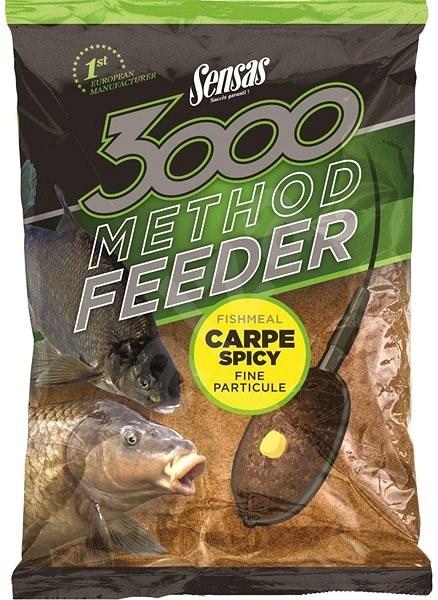 Sensas 3000 Method Feeder Carp Spicy 1kg - Vnadící směs
